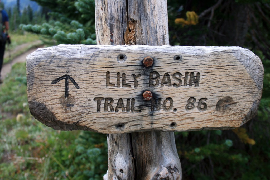 Lily Basin Trail Sign