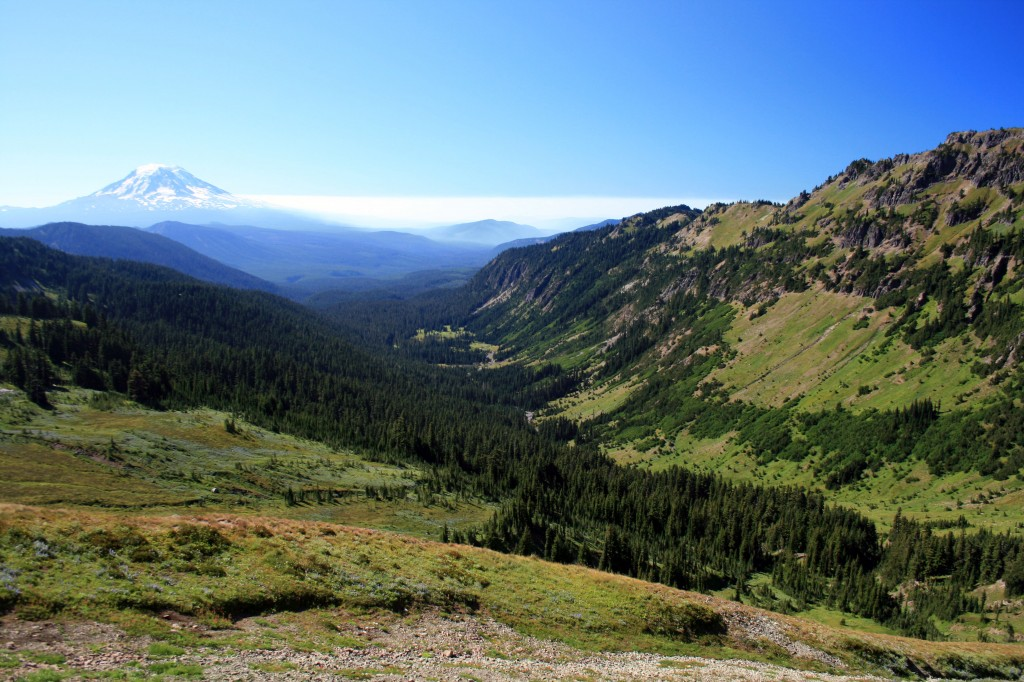 View of the valley from the Lily Basin trail before Goat Lake