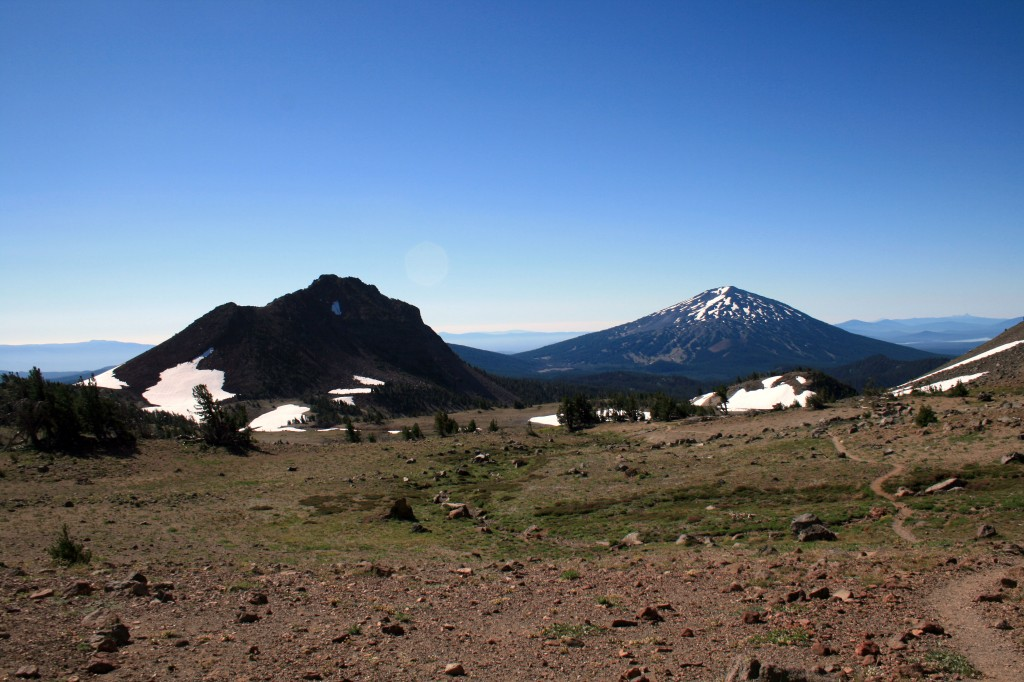 View of Mt. Bachelor from Broken Top boot path