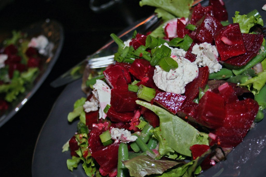 beet_green_bean_goat_cheese_salad