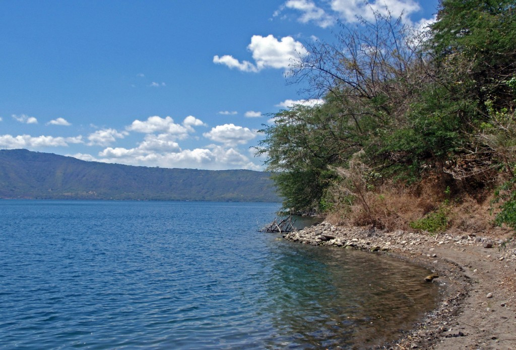 private beach at laguna de apoyo
