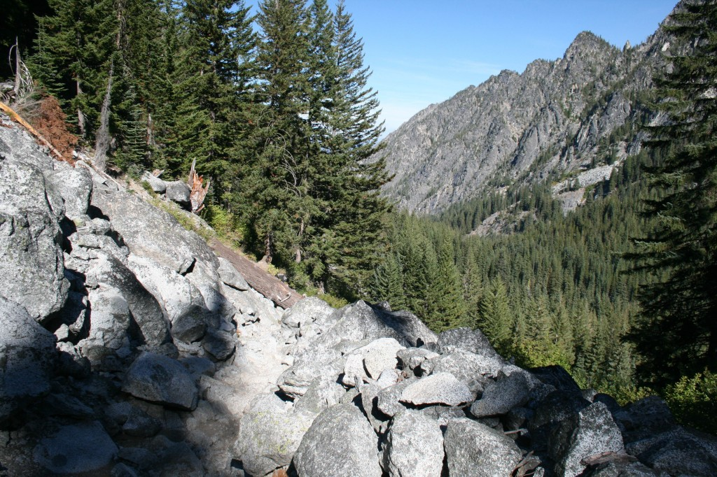 Talus Slope Switchbacks on Snow Lake Trail