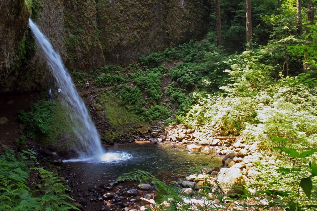 Ponytail falls on trail to triple falls