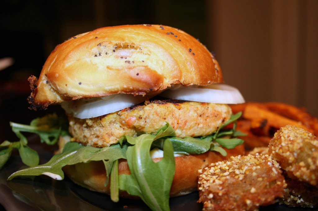 curried salmon burger