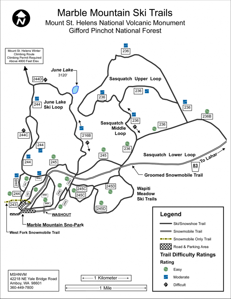 Marble Mountain SnoPark Map