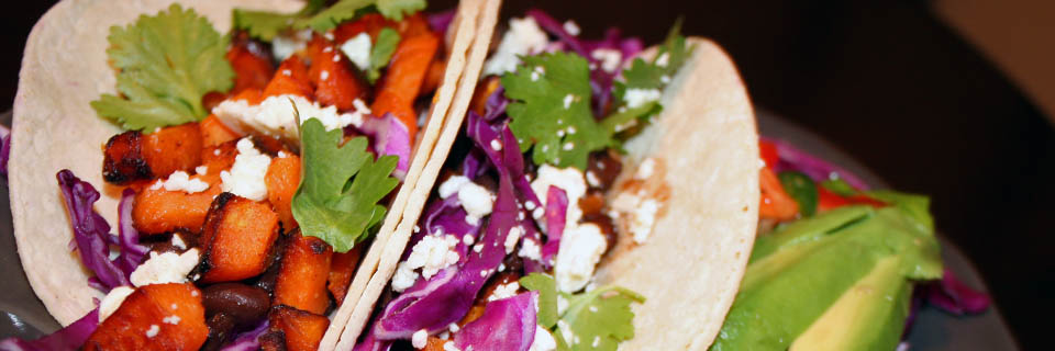 chipotle black bean tacos header