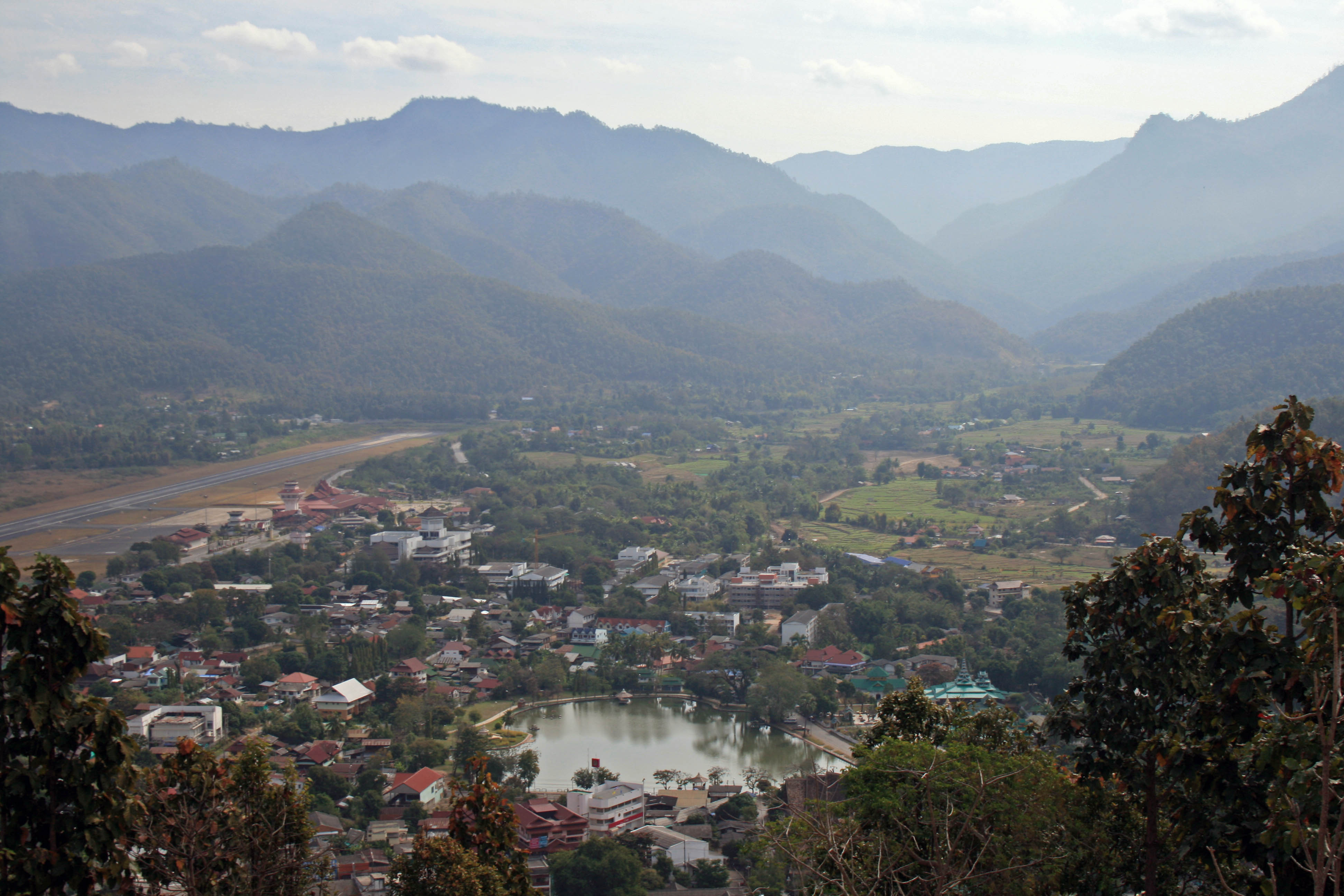 The view from up high on the hill above Mae Hong Son.