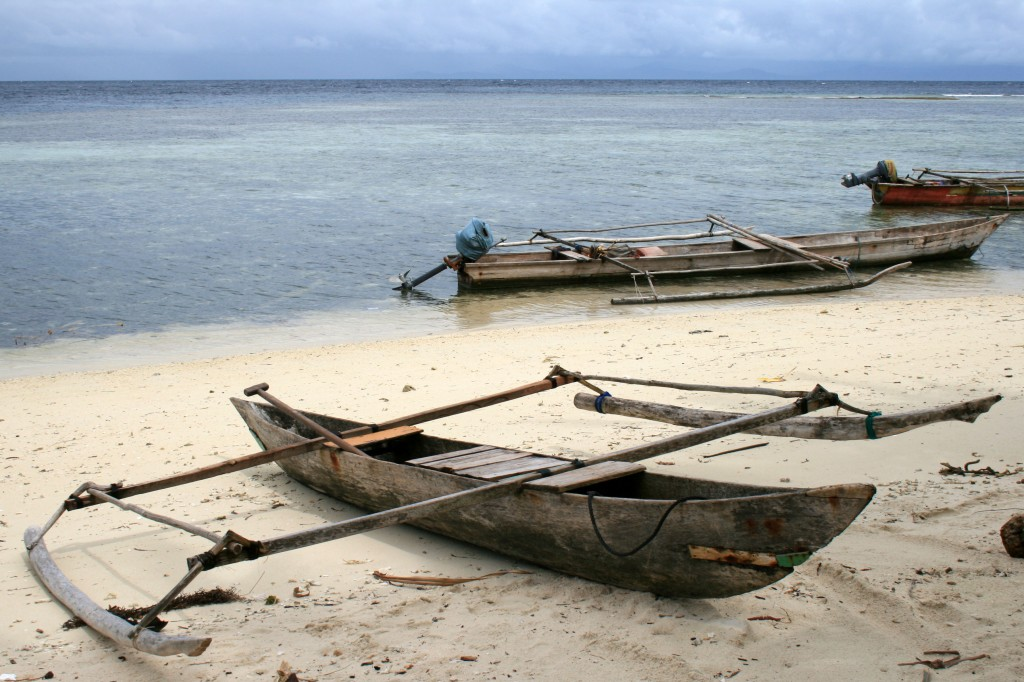 Raja Ampat Arborek local boats