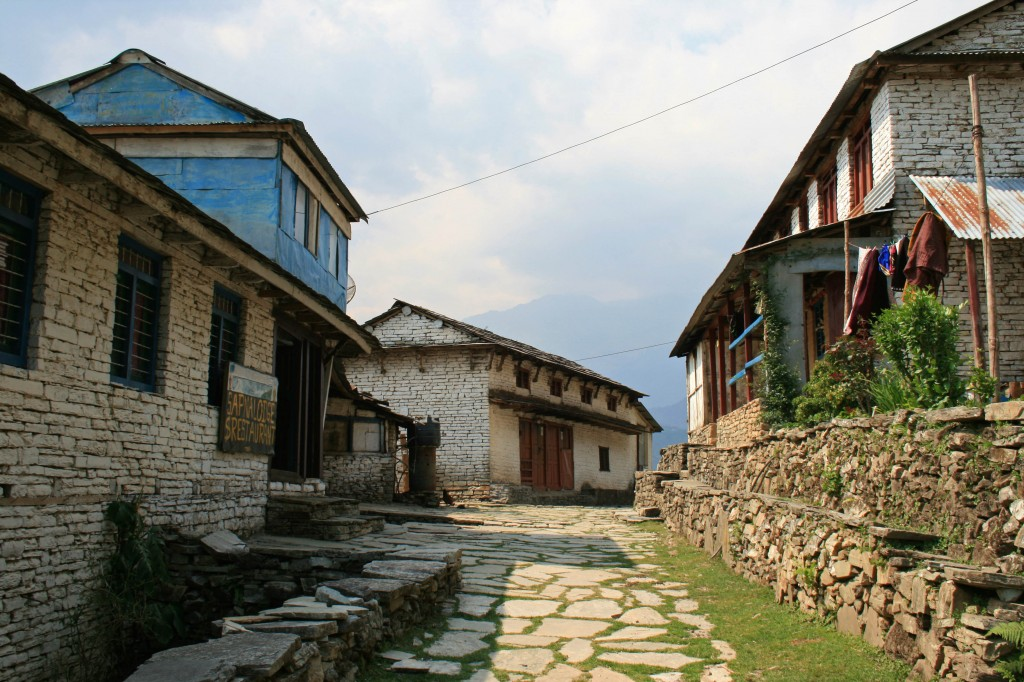 One of the picturesque villages along the trail