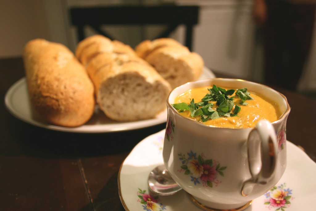 lobster-mushroom-bisque-crusty-bread